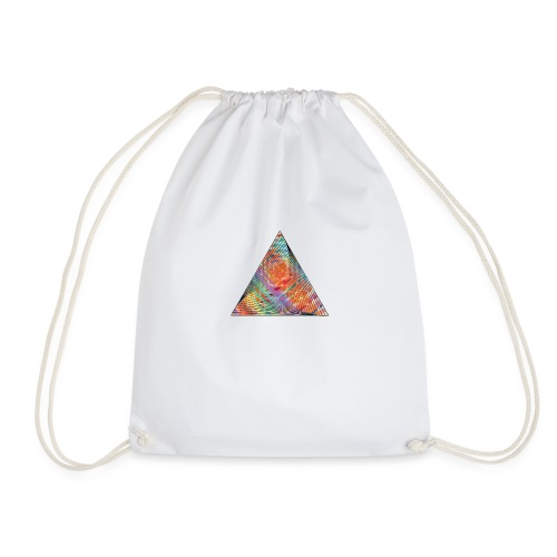 Triangle of twisted color - Drawstring Bag