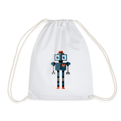 Blue Robot - Drawstring Bag