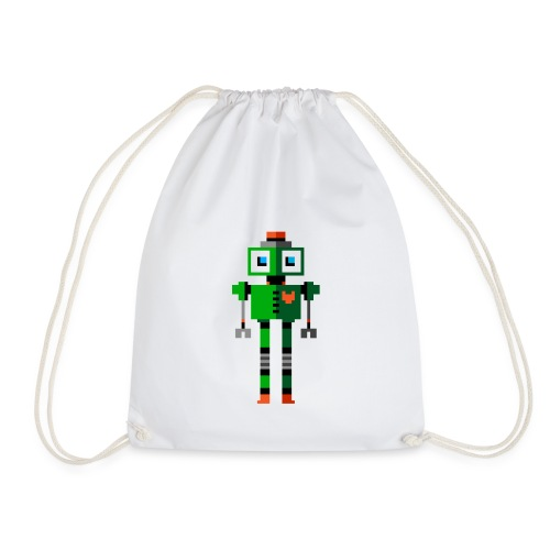 Green Robot - Drawstring Bag