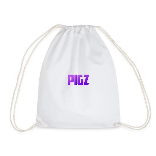 Pigz In Purple! - Drawstring Bag
