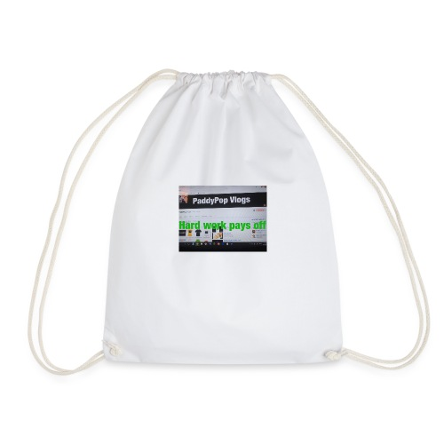 hard work pays off - Drawstring Bag