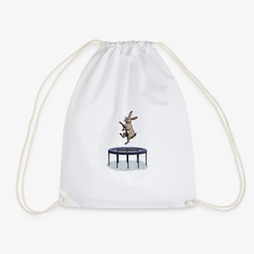 Rabbit Trampoline - Drawstring Bag