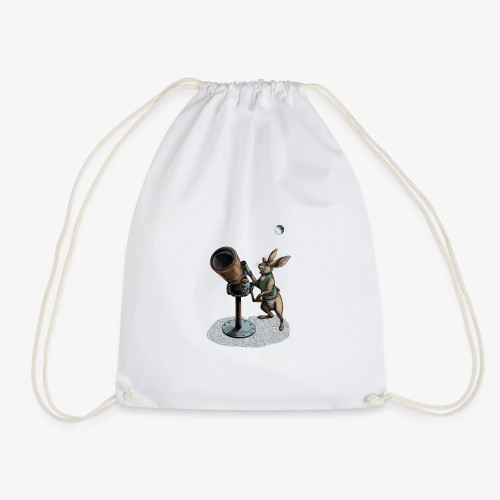 Stargazing Hare - Drawstring Bag