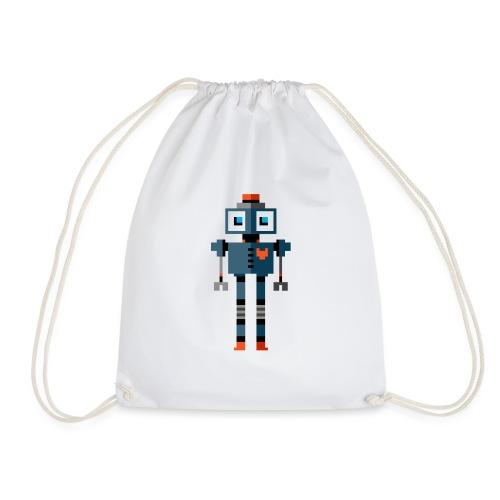 Blue Robot - Drawstring Bag