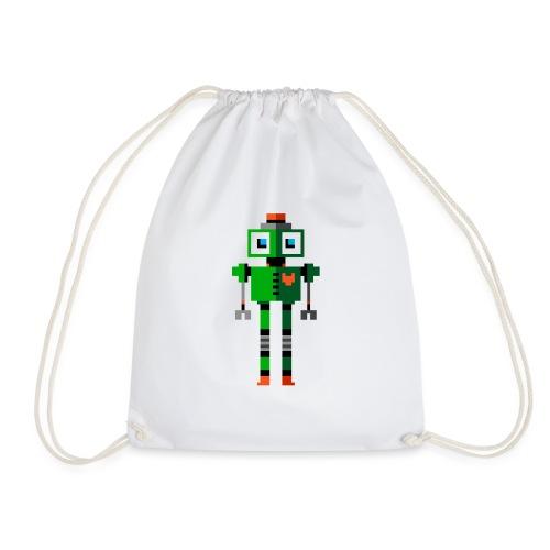 Green Robot - Drawstring Bag