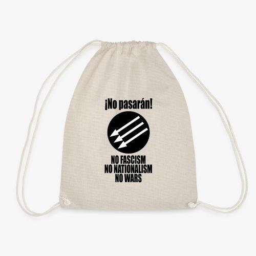 No pasaran! - No Fascism, No Nationalism, No Wars - Drawstring Bag