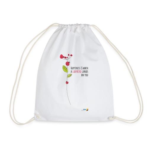 Ladybird Women's T-Shirt - white and ecru - Drawstring Bag