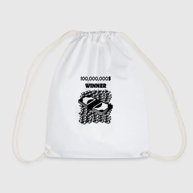 millionwinner blak - Drawstring Bag