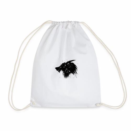 Wolf Splatter Design - Drawstring Bag