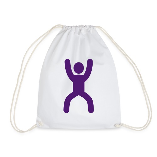 happy stretching woman - Drawstring Bag