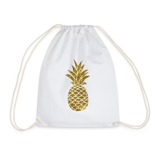 pineapple gold - Drawstring Bag