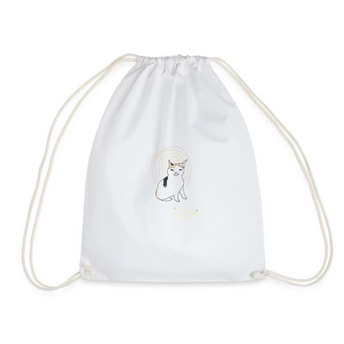 Cat no like banana - Drawstring Bag
