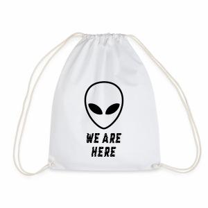 Alien Were Here - Drawstring Bag