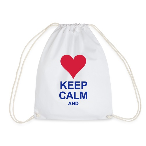 Be calm and write your text - Drawstring Bag