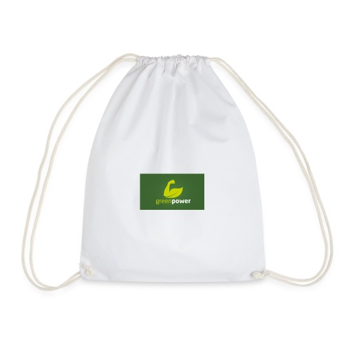 Green Power fitness logo - Drawstring Bag