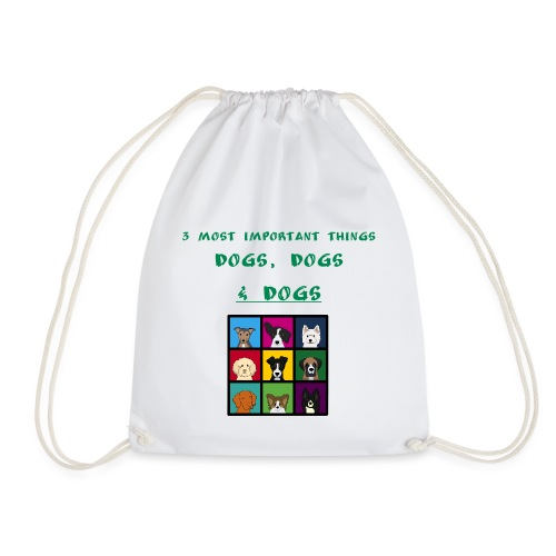 3 most important things - - Drawstring Bag