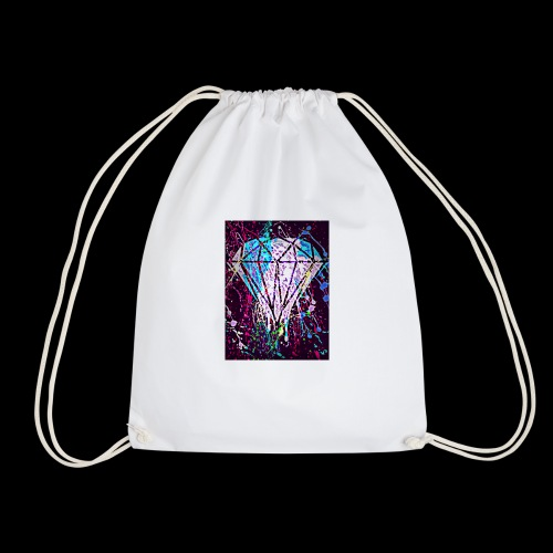 diamond splatter - Drawstring Bag