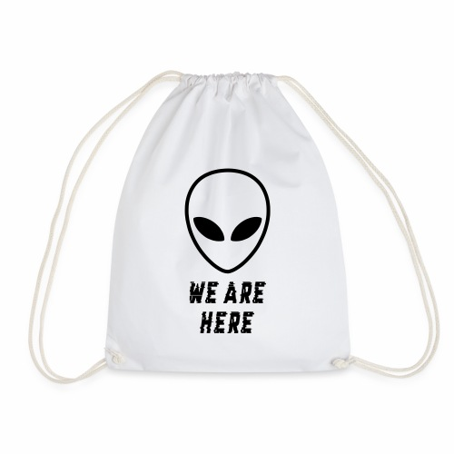 Alien Were Here - Drawstring Bag