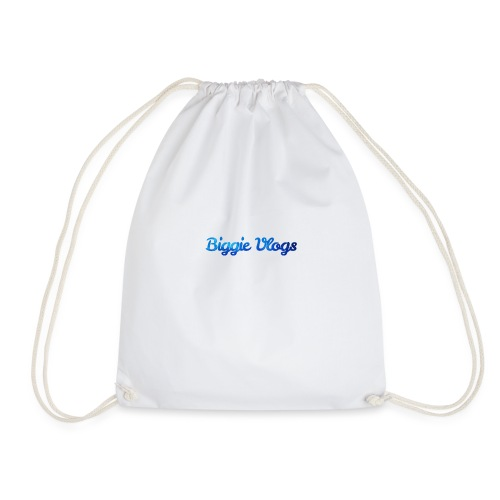 blue BiggieVLogs Kids tshirt - Drawstring Bag