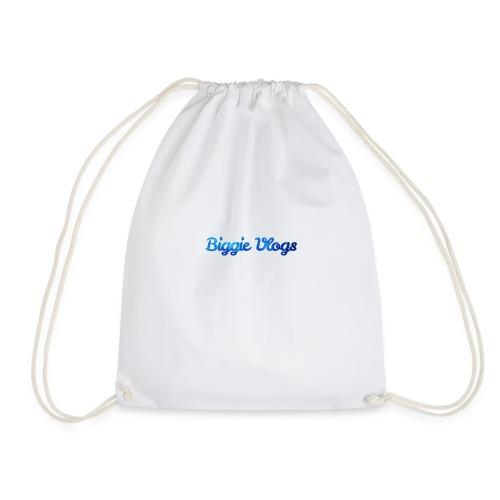 blue BiggieVLogs Kids tshirt - Drawstring Bag