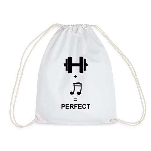Sport und Musik ist Perfekt - Turnbeutel