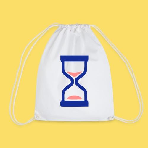 ⏳ ✦°•Hourglass-Sandglass vector design - Drawstring Bag