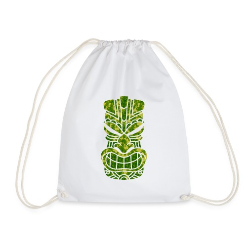 Tū of the angry face - Drawstring Bag