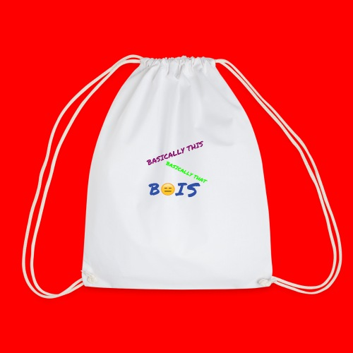 BASICALLY THIS BASICALLY THAT ZEPPLIN Design - Drawstring Bag