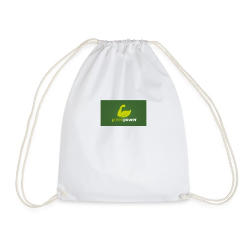 Green Power fitness logo - Drawstring Bag