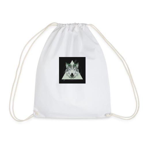 Geo wolf - Drawstring Bag