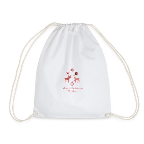 Merry Christmas My deer - Drawstring Bag