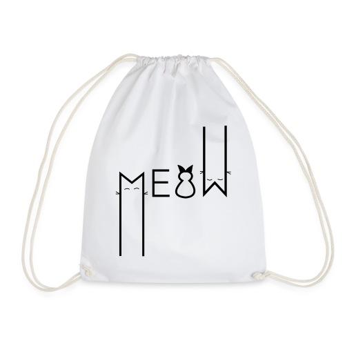 MEOW Miau Katze Süß Liebe - Turnbeutel