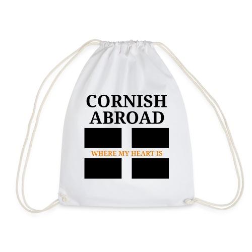 Cornish abroad - Drawstring Bag