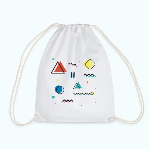Abstract geometry - Drawstring Bag