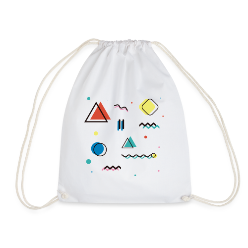 Abstract geometry - Drawstring Bag