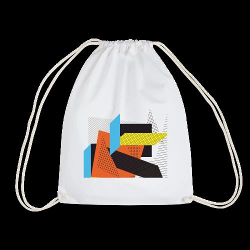 Vintage shapes abstract - Drawstring Bag