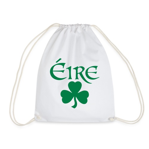 Eire Shamrock Ireland logo - Drawstring Bag