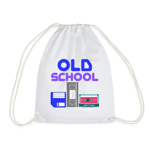 OLD SCHOOL ( Coloured text ) - Drawstring Bag