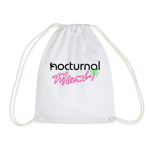 Nocturnal Miami Palm Tree black - Drawstring Bag