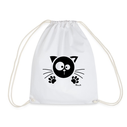 Chat noir Rigolo Drôle Humour Chaton Cat Mignon - Sac de sport léger