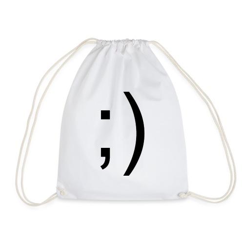Wink Wink Smile - Drawstring Bag