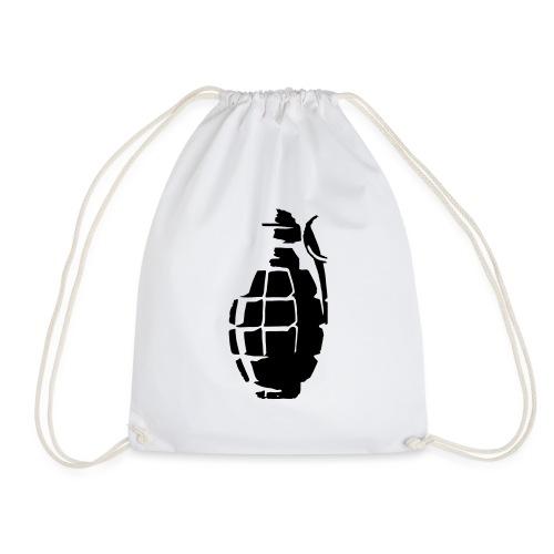Grenade Silhouette - Drawstring Bag