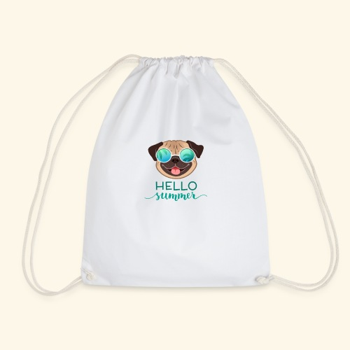 Summer Pug - Drawstring Bag