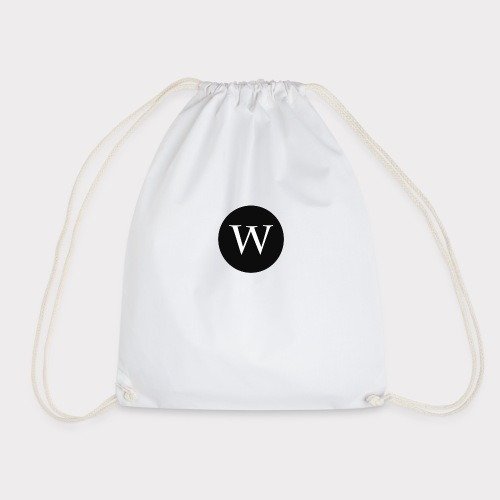 WHITE W CIRCLE - Drawstring Bag