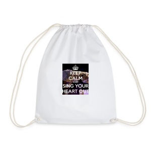 Keep Calm And Sing Your Heart Out T-Shirt - Drawstring Bag