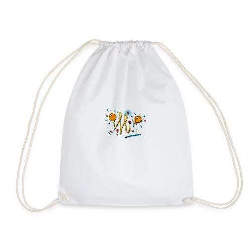 Hi Sunny Doodle fun design by FabSpark - Drawstring Bag