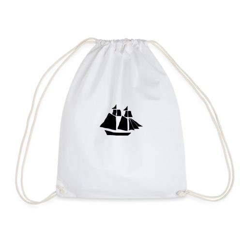 black hand ship - Drawstring Bag