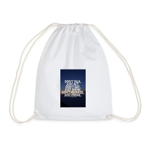 Life quote 1 - Drawstring Bag