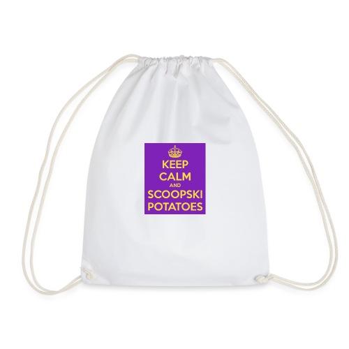 keep calm and scoopski potatoes - Drawstring Bag