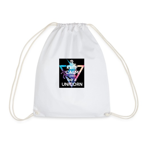 keep calm and be a unicorn - Drawstring Bag